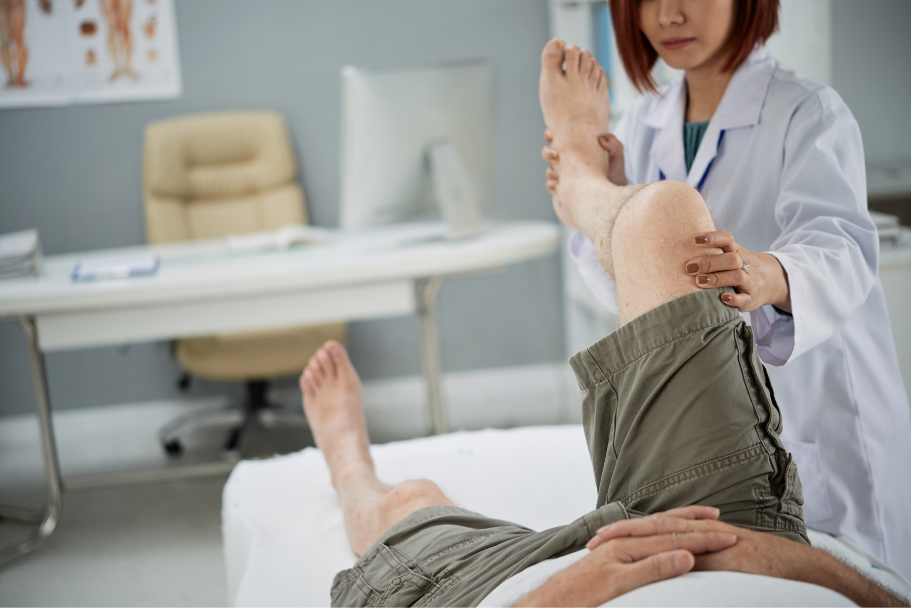 Patient being treated for post op therapy